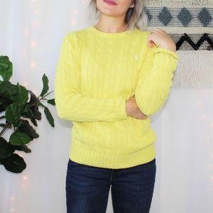 Polo Ralph Lauren Yellow Chunky Knit Sweater